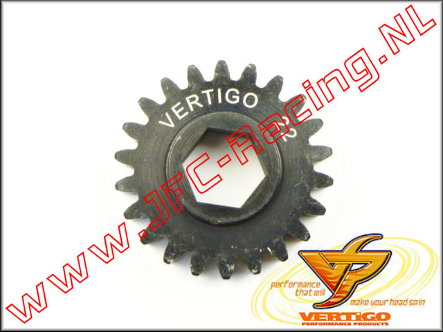 VTG 101122, Vertigo 22T Steel Pinion gear (12mm Hex Drive Clutch Bell) 1st.