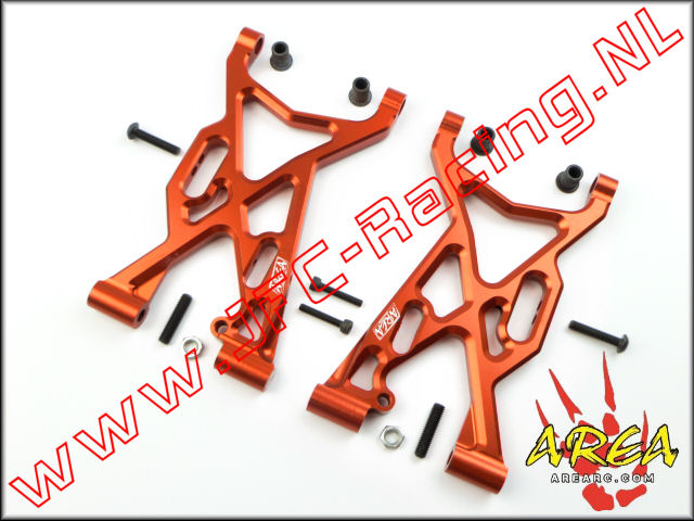 AR-L003-RED, Alloy Front Suspension Arm V2 (Losi 5ive-T)(<FONT COLOR=ff0000>Red</FONT>)(Area Rc) 2st.