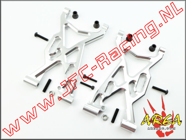 AR-L003-SILVER, Alloy Front Suspension Arm V2 (Losi 5ive-T & Mini WRC)(<FONT COLOR=808080>Silver</FONT>)(Area Rc) 2st.