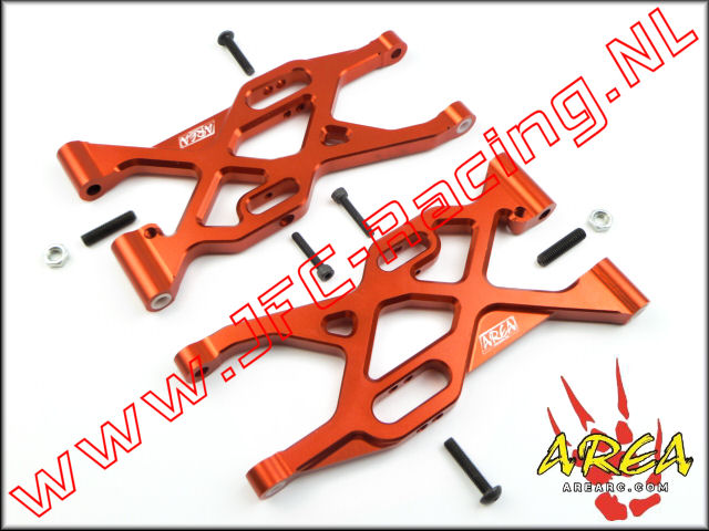 AR-L004-RED, Alloy Rear Suspension Arm V2 (Losi 5ive-T)(<FONT COLOR=ff0000>Red</FONT>)(Area Rc) 2st.