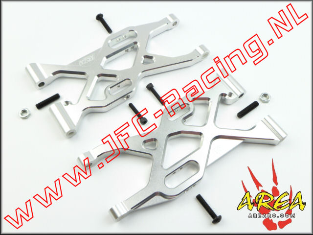 AR-L004-SILVER, Alloy Rear Suspension Arm V2 (Losi 5ive-T & Mini WRC)(<FONT COLOR=808080>Silver</FONT>)(Area Rc) 2st.