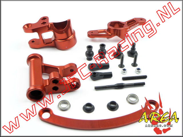AR-L008-RED, Steering Arm V2 Compatible with Single or Dual Servo (Losi 5ive-T & Mini WRC)(<FONT COLOR=ff0000>Red</FONT>)(Area Rc) 1st.