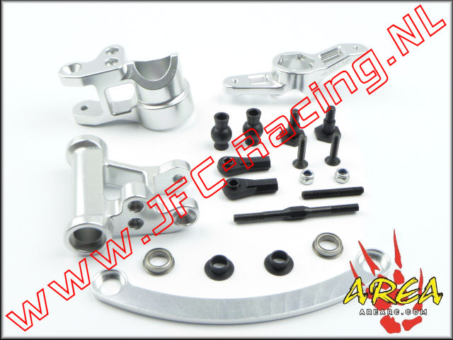 AR-L008-SILVER, Steering Arm V2 Compatible with Single or Dual Servo (Losi 5ive-T & Mini WRC)(<FONT COLOR=808080>Silver</FONT>)Area Rc) 1st.
