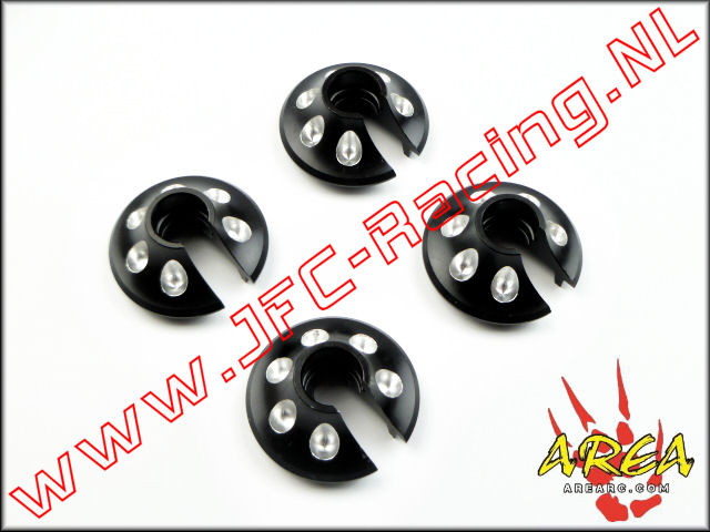 AR-L018-BLACK, Spring Perch For (Losi 5ive-T & Mini WRC)(Black)(Area Rc) 1st.