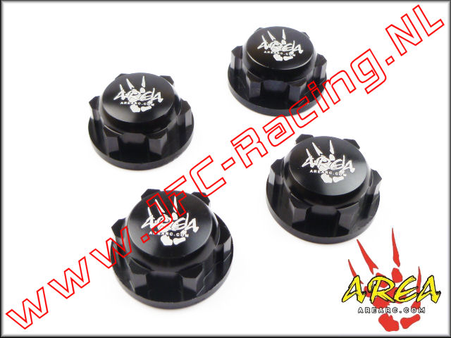 AR-L030-BLACK, Wheel nuts (Losi 5ive-T & Losi DBXL)(Black)(Area Rc) 4st.