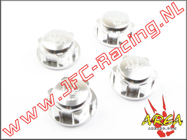 AR-L030-SILVER, Wheel nuts (Losi 5ive-T & Losi DBXL)(<FONT COLOR=808080>Silver</FONT>)(Area Rc) 4st.