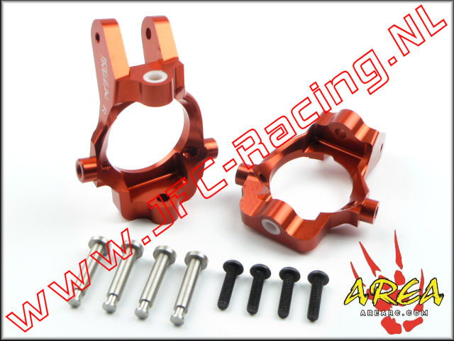 AR-L032-RED, Front Hub Carrier (Losi 5ive-T & Mini WRC)(<FONT COLOR=ff0000>Red</FONT>)(Area Rc) 2st.