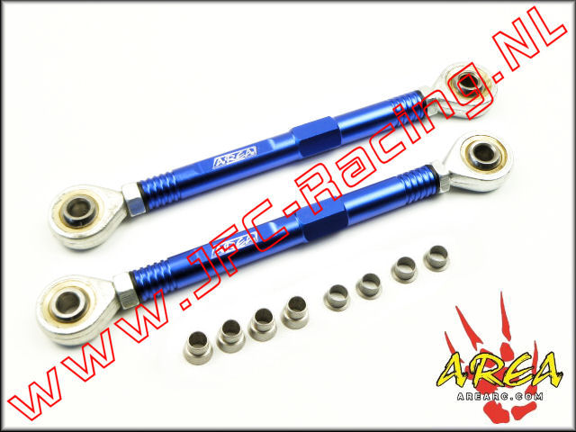 AR-L038-BLUE, Aluminum Pull Rod Steering (Losi 5ive-T / Losi 5ive-B / Mini WRC)(<FONT COLOR=0000ff>Blue</FONT>)(Area Rc) 1st.