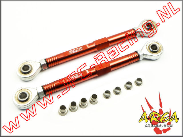 AR-L038-RED, Aluminum Pull Rod Steering (Losi 5ive-T / Losi 5ive-B / Mini WRC)(<FONT COLOR=ff0000>Red</FONT>)(Area Rc) 1st.