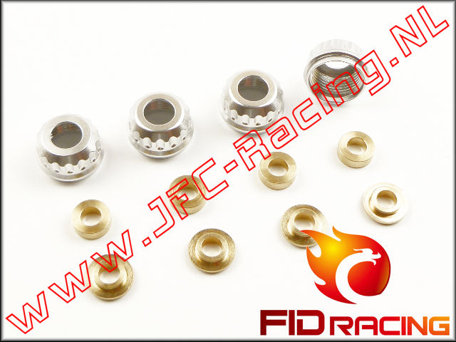 FID 0034, FID Racing Schokdemper Sealing Set (LOSI 5ive / Mini)(Aluminium) 4st.
