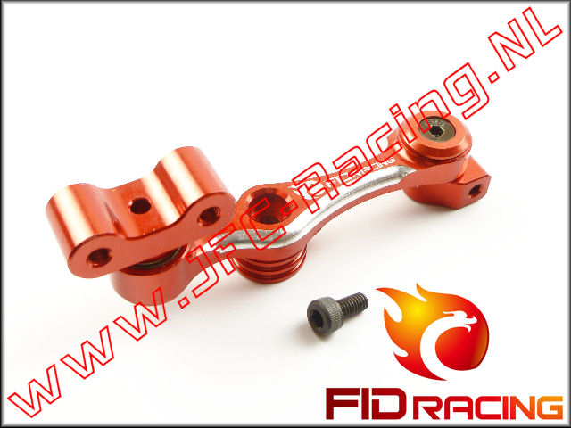 FID 0053RED, FID Racing Servo Hevel Gelagerd (15T)(LOSI 5ive / Mini)(Aluminium)(<FONT COLOR=ff0000>Red</FONT>) 1st.