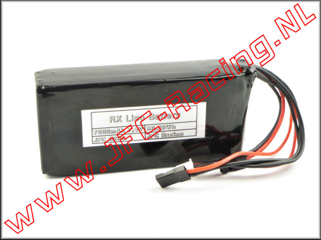 JFC 0285, 7200mAh 7.4V LiPo RX Battery Pack (JFC Racing) 1st.