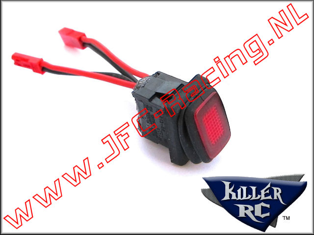 KIL 0236, Super Power Switch (JST Plugs)(Red) 1st.