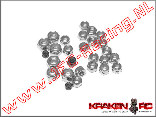 KV9905, VEKTA.5 Locknut M3, M4, M5, and M6 Set.