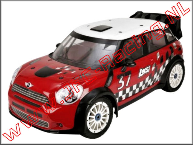 Bouwtekening Losi Mini WRC 4WD Rally Car.