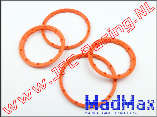 MM 1160, Madmax High Quality Beadlock Ring (2x Outside / 2x Inside)(<FONT COLOR=ff7301>Orange</FONT>)(MadMax) 2st.