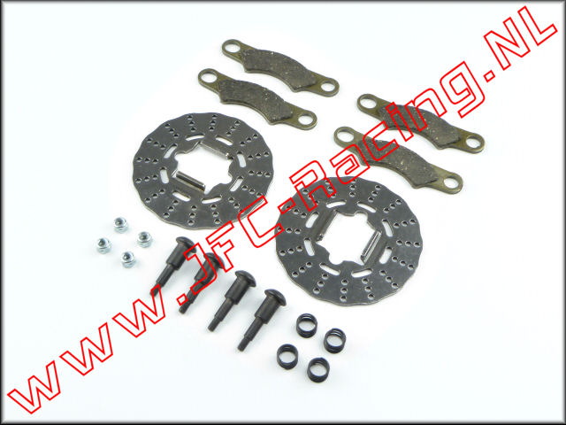 TLR 252011, Brake Disc Pad And Screw Set (TLR)(5IVE-B / 5IVE-T / Mini WRC) 1st.