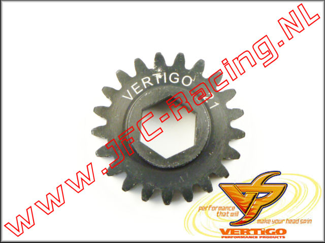 VTG 101121, Vertigo 21T Steel Pinion gear (12mm Hex Drive Clutch Bell) 1st.