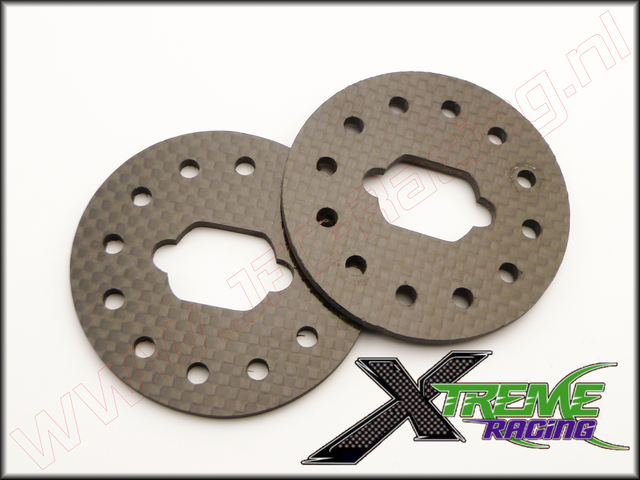 XTR 10882, Team Losi 5ive Xtreme Racing Rem Schijf (Carbon)(3mm) 2st.