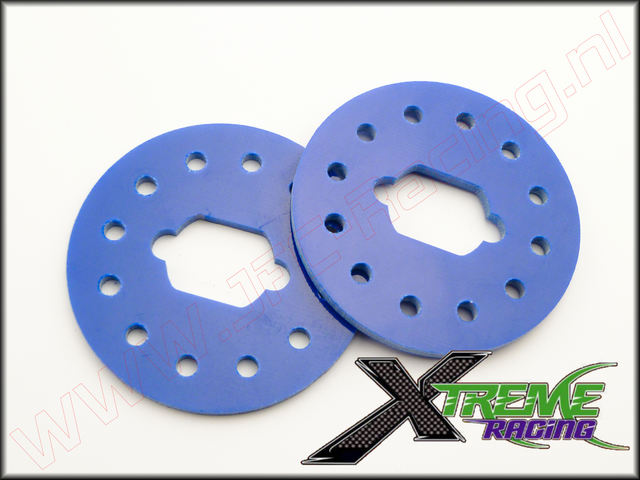 XTR 10882B, Team Losi 5ive Xtreme Racing Rem Schijf (<FONT COLOR=0000ff>Blauw</FONT>)(3mm) 2st.