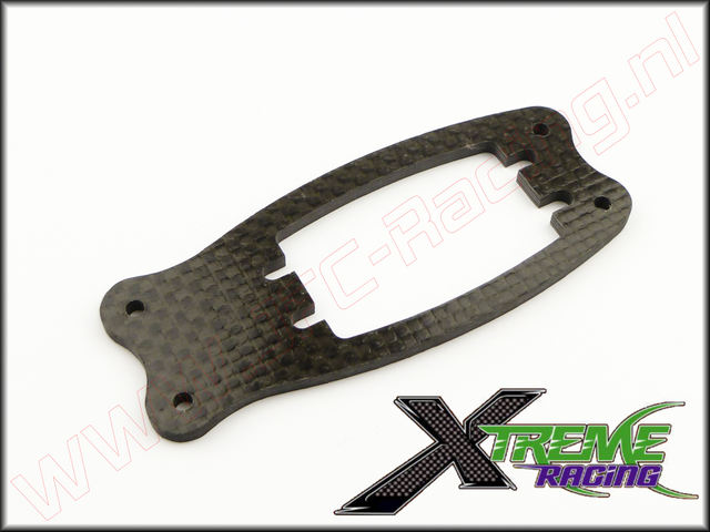 XTR 10885, Team Losi 5ive Xtreme Racing Servo Plaat (Carbon)(3mm) 1st.